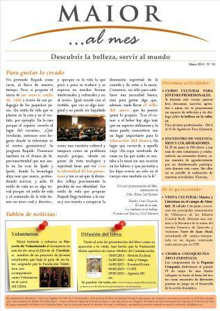 Boletín mensual de noticias y actividades de la Fundación Maior. Edición de junio 2013