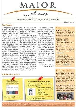 Boletín mensual de noticias y actividades de la Fundación Maior. Edición de octubre 2013