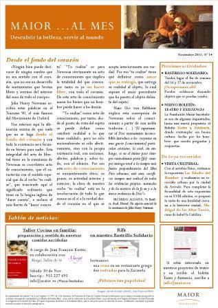 Boletín mensual de noticias y actividades de la Fundación Maior. Edición de noviembre 2013
