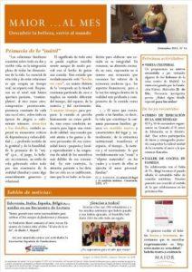 Boletín mensual de noticias y actividades de la Fundación Maior. Edición de diciembre 2013