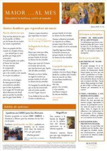 Boletín mensual de noticias y actividades de la Fundación Maior. Edición de enero 2014