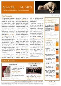 Boletín mensual de noticias y actividades de la Fundación Maior. Edición de marzo 2014