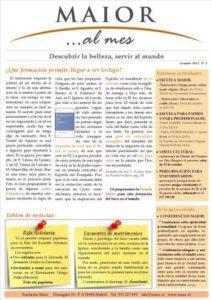 Boletín mensual de noticias y actividades de la Fundación Maior. Edición de febrero 2012
