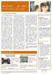 Boletín mensual de noticias y actividades de la Fundación Maior. Edición de mayo 2014