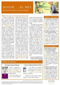Boletín mensual de noticias y actividades de la Fundación Maior. Edición de julio 2014