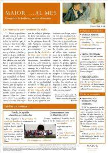 Boletín mensual de noticias y actividades de la Fundación Maior. Edición de octubre 2014