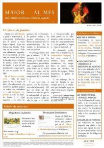 Boletín mensual de noticias y actividades de la Fundación Maior. Edición de febrero 2015