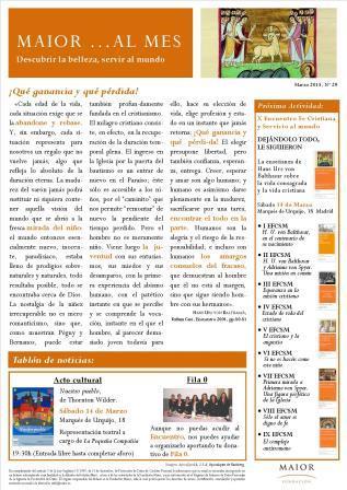 Boletín mensual de noticias y actividades de la Fundación Maior. Edición de marzo 2015
