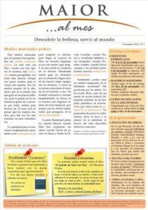 Boletín mensual de noticias y actividades de la Fundación Maior. Edición de noviembre 2012