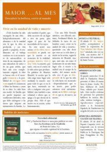 Boletín mensual de noticias y actividades de la Fundación Maior. Edición de mayo 2015