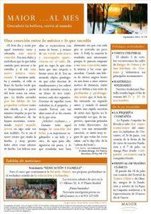 Boletín mensual de noticias y actividades de la Fundación Maior. Edición de septiembre 2015