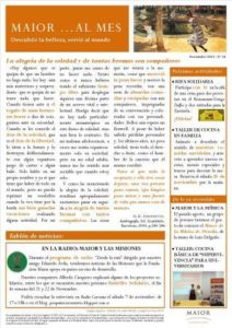 Boletín mensual de noticias y actividades de la Fundación Maior. Edición de noviembre 2015