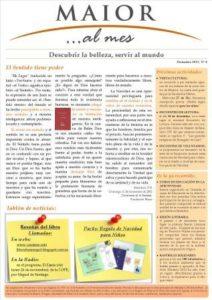 Boletín mensual de noticias y actividades de la Fundación Maior. Edición de diciembre 2012