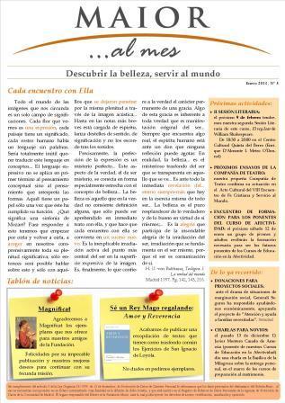 Boletín mensual de noticias y actividades de la Fundación Maior. Edición de enero 2013