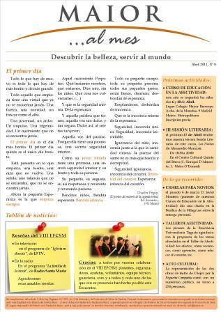 Boletín mensual de noticias y actividades de la Fundación Maior. Edición de abril 2013