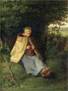 La tejedora.Jean-francois-millet