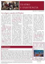 Boletín Teatro y Existencia de La Pequeña Compañía de la Fundación Maior. Número 13, de marzo de 2016