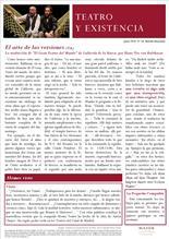 Boletín Teatro y Existencia de La Pequeña Compañía de la Fundación Maior. Número 14, de junio de 2016