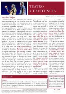 Boletín de Teatro y Existencia de La Pequeña Compañía de la Fundación Maior, con recomendaciones de la cartelera. Edición de Septiembre 2016