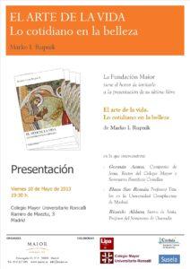 """Presentación Libro Rupnik """"El arte de la vida"""""""