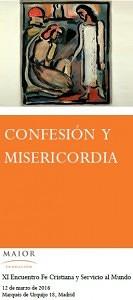 """Portada del tríptico del XI Encuentro FCSM """"Confesión y Misericordia"""""""