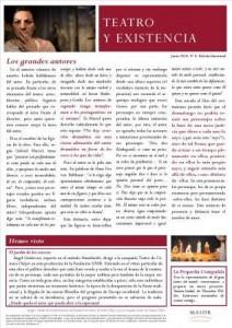 Boletín Teatro y Existencia. Junio 2014, Nº 4