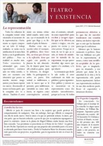 Boletín Teatro y Existencia. Junio 2015, Nº 9