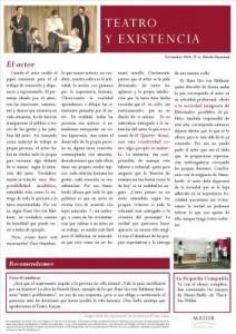 Boletín Teatro y Existencia. Noviembre 2014, Nº 6