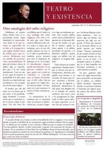 Boletín Teatro y Existencia. Septiembre 2015, Nº 10