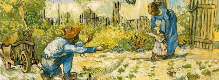 """Cuadro """"Primeros pasos"""" de Vincent Van Gogh"""