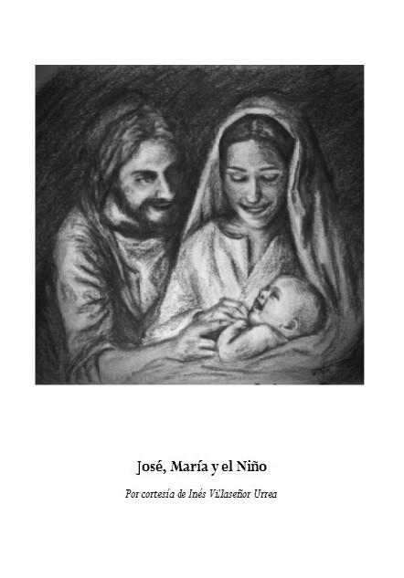 Imagen de la Sagrada Familia en Christmas de Navidad que vende la Fundación Maior