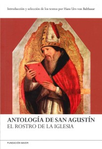 """Portada del libro """"Antología de San Agustín. El rostro de la Iglesia"""", de Hans Urs von Balthasar"""