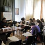 Foto de un seminario de Escuela Maior (Formación en Teología para laicos)