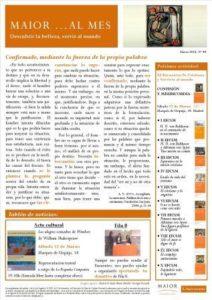 Boletín mensual de noticias y actividades de la Fundación Maior. Edición de marzo 2016