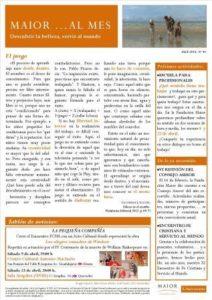 Boletín mensual de noticias y actividades de la Fundación Maior. Edición de abril 2016