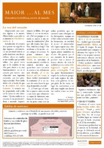 Boletín mensual de noticias y actividades de la Fundación Maior. Edición de noviembre 2016
