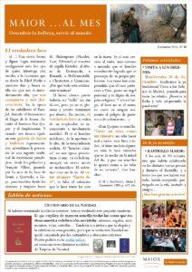 Boletín mensual de noticias y actividades de la Fundación Maior. Edición de diciembre 2016
