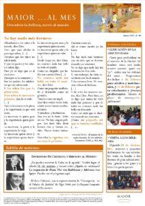 Boletín mensual de noticias y actividades de la Fundación Maior. Edición de enero 2017