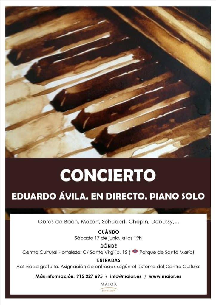 Cartel Concierto Piano Eduardo Ávila