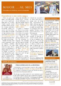 Boletín mensual de noticias y actividades de la Fundación Maior. Edición de mayo 2017