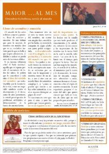 Boletín mensual de noticias y actividades de la Fundación Maior. Edición de junio 2017