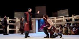 """Escena de la obra de teatro """"Fuenteovejuna"""", de Lope de Vega, por la Joven Compañía Nacional de Teatro Clásico"""