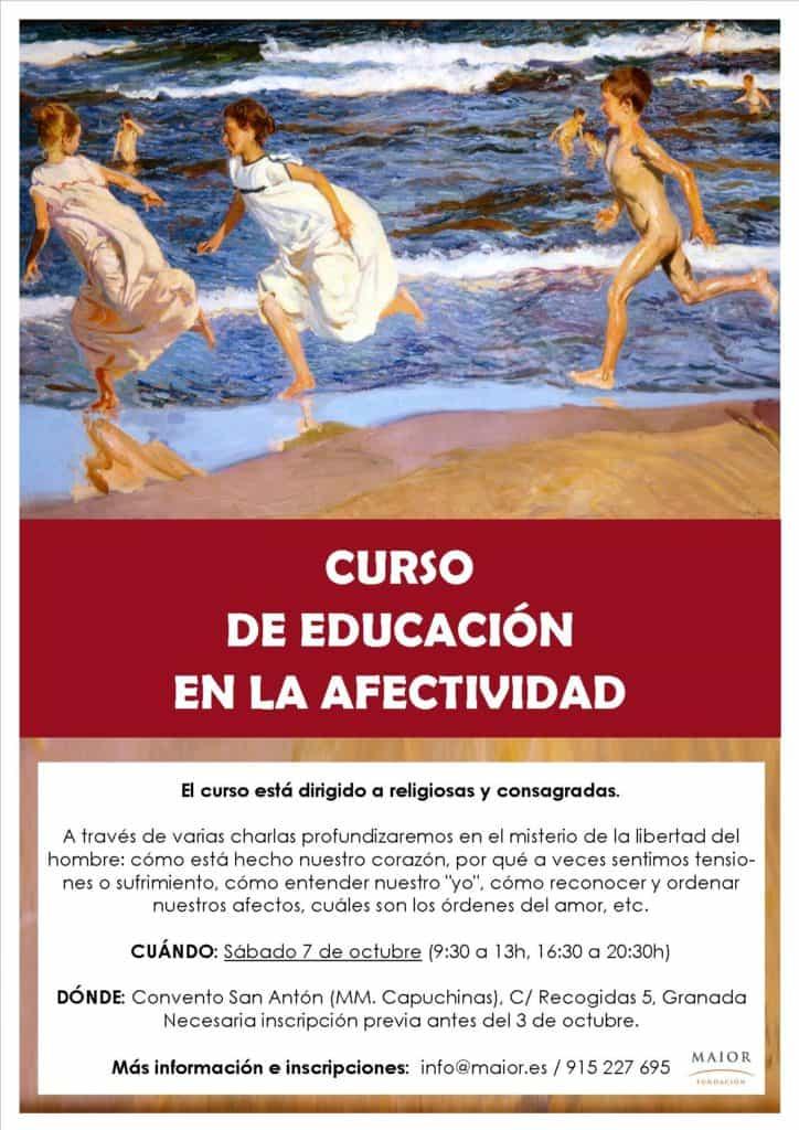 Cartel del Curso de Afectividad para religiosas en Granada