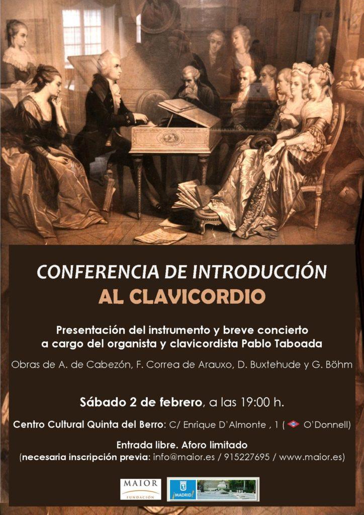 Cartel del Concierto de Clavicordio en Centro Cultural Quinta del Berro