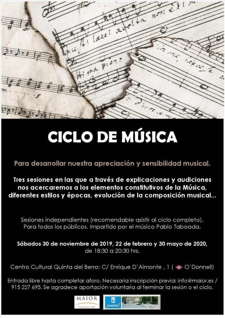 Cartel informativo Ciclo de música_FM