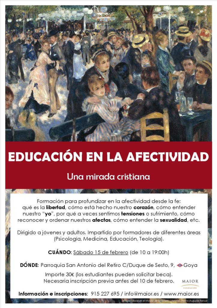 Cartel Curso Afectividad Madrid febrero 2020 Fundación Maior