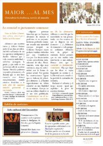 Boletín mensual de noticias y actividades de la Fundación Maior. Edición de marzo 2020