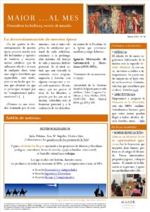 Boletín mensual de noticias y actividades de la Fundación Maior. Edición de enero 2021