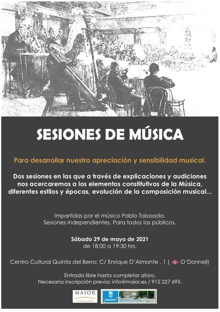 Cartel de la Sesión de Música de la Fundación Maior el sábado 29 de mayo